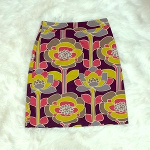 Boden pencil skirt with retro design